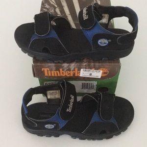 Timberland Boys Sandals Kids Shoes Velcro Black LN